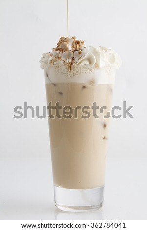 delicious coffee with foam - stock photo