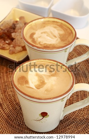Delicious coffee with milk