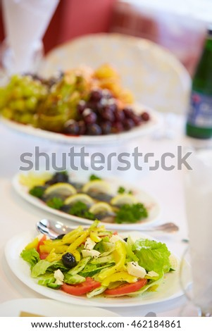 delicious cold appetizer vegetable salad
