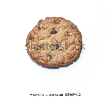 Delicious cookie isolated in white - stock photo