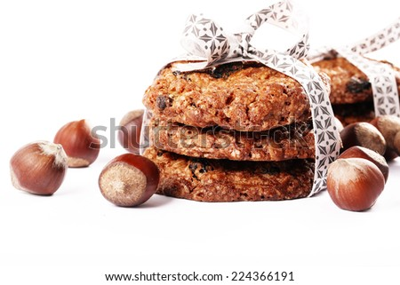 delicious cookies with hazelnuts