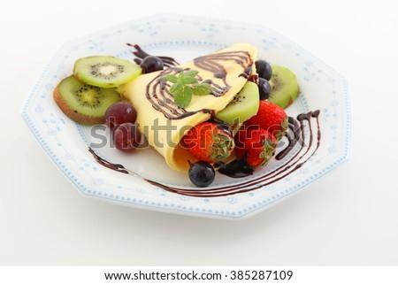 Delicious crepe - stock photo