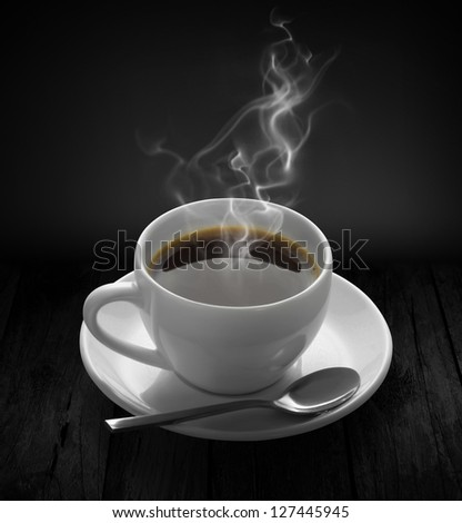 delicious cup of coffee or hot chocolate - stock photo