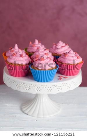 Delicious cupcake, selective focus - stock photo