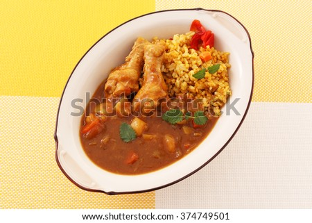 Delicious curry and rice