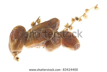 delicious dates isolated on a white background