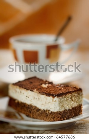 Delicious dessert served on a plate - stock photo