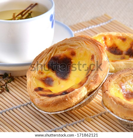 delicious egg tart  - stock photo