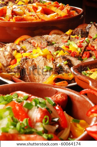 delicious food - stock photo