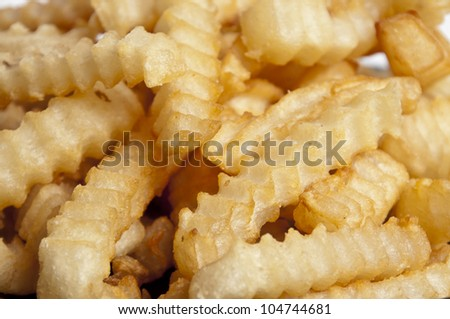 Delicious french fried potatoes ready to be eaten
