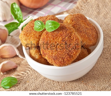 delicious fresh cutlets in a bowl