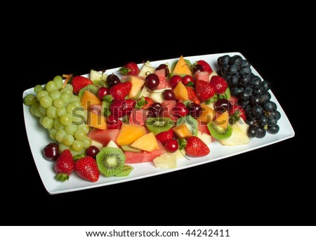 Delicious fresh fruit platter selection - stock photo