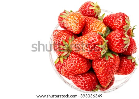 Delicious fresh red Strawberry fruits - stock photo
