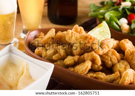 Delicious fried fish - stock photo