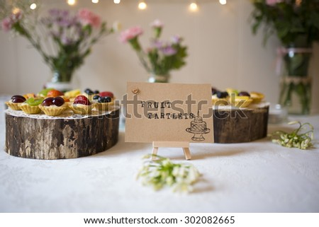 Delicious Fruit Tartlets - stock photo