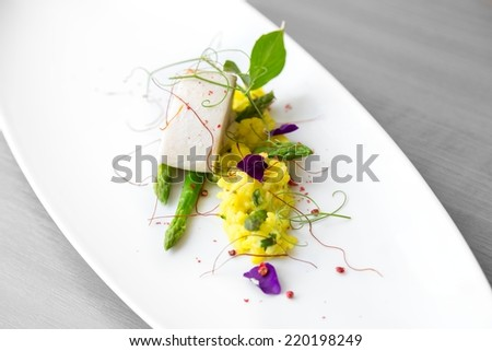 Delicious gourmet food - stock photo