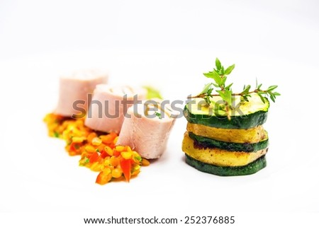 Delicious gourmet food close up - stock photo