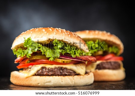 Delicious grilled burger