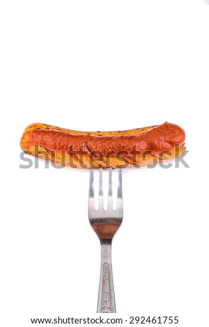 delicious grilled sausages isolate���² on a white background