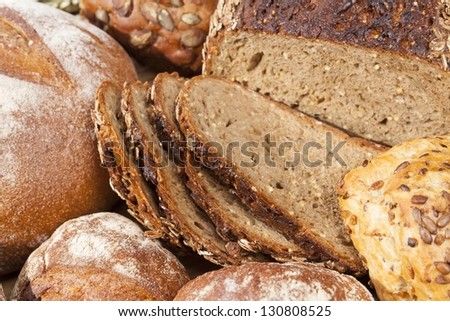 delicious healthy pastries still life - stock photo