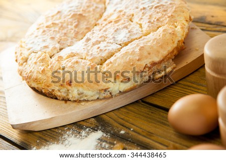 delicious home made cake on the table - stock photo