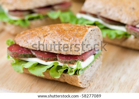 Delicious  homemade sandwich - stock photo