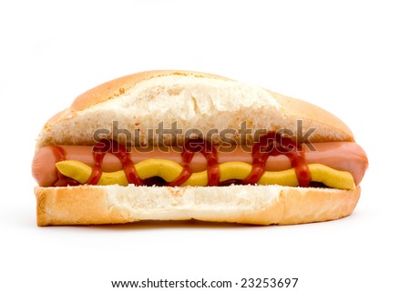 delicious hot dog studio isolated over white