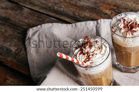 Delicious latte on the table - stock photo
