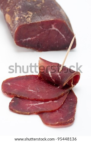 Delicious Mediterranean style smoked meat. - stock photo