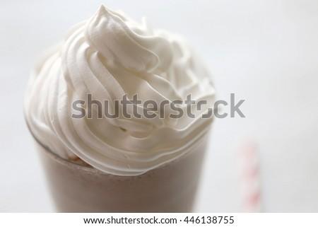 Delicious milkshake, closeup - stock photo