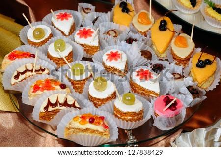 Delicious mini cakes - stock photo
