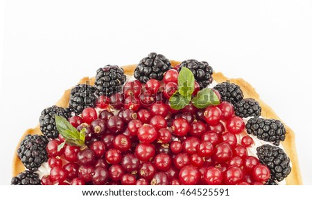 ... fresh red currants, blackberries, raspberries, strawberries and cream