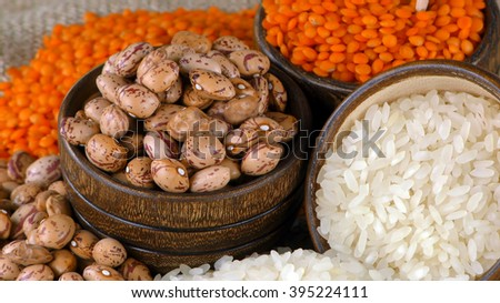 Delicious Mixed of Legumes Food  - stock photo