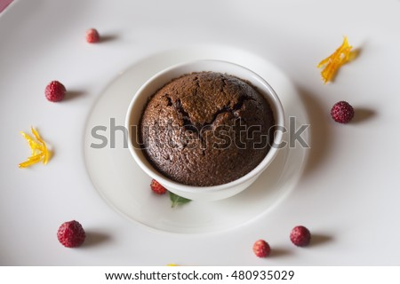 Delicious muffin on a plate