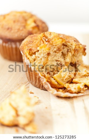Delicious muffins with apple