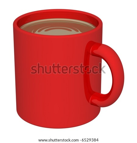 Delicious mug of coffee isolated on white - stock photo