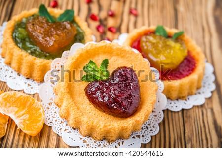 Delicious organic jams - stock photo
