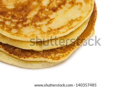 delicious pancakes on white