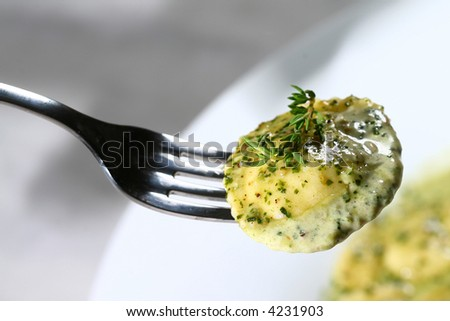 Delicious pasta close-up - stock photo