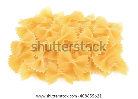 delicious pasta heap on a white background isolated - stock photo