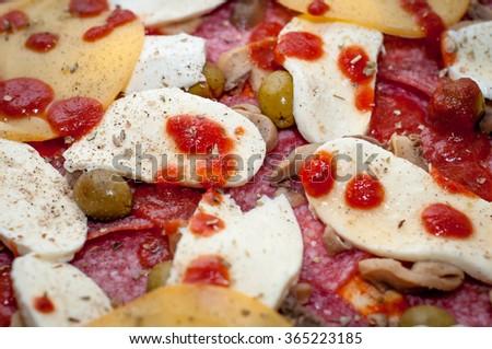 Delicious pizza - stock photo