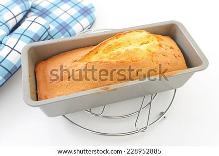 Delicious pound cake - stock photo