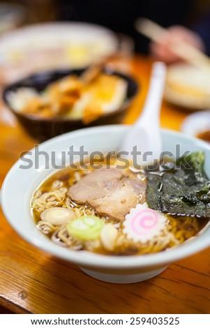 Delicious Ramen Japanese noodle soup dish - stock photo