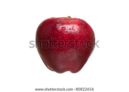 Delicious Red Apple Isolated on a White Background - stock photo