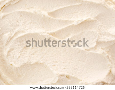 Delicious refreshing creamy Italian lemon or vanilla ice-cream for a summer dessert or takeaway, close up full frame background texture - stock photo