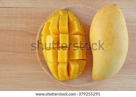 Delicious ripe mango fruit  - stock photo