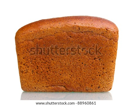 delicious ??rye bread isolated on white