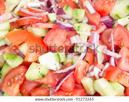 Delicious Salad Close up - stock photo