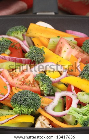 delicious salad with lots of veggies perfect for weight managerment - stock photo