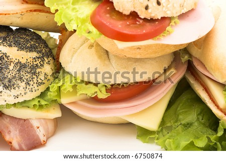 Delicious sandwich ready for eat